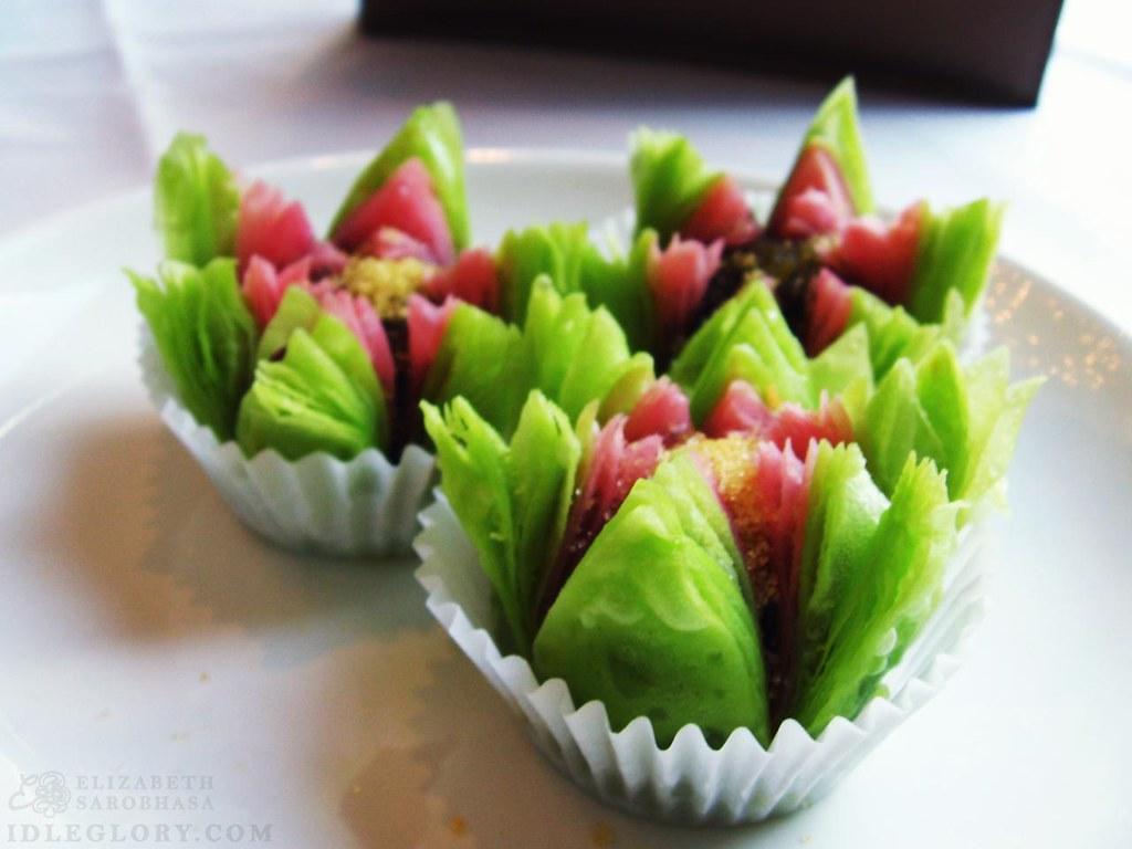 flower petal desserts