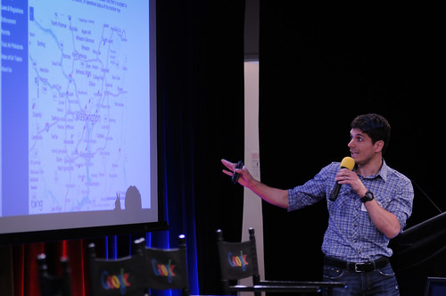 Javaun Moradi of NPR speaks at TechRaking 2012.