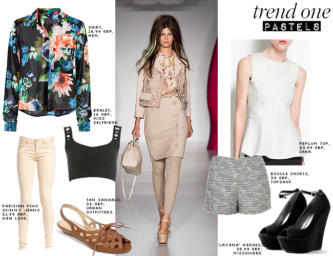daisybutter - UK Style Blog: ways to wear, SS12 trends, pastels, sheer, floral, h&m, peplum