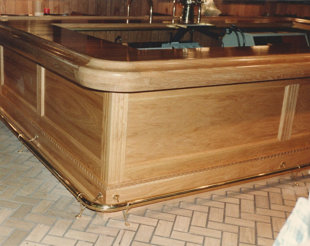 chicago bar rail with custom radius corners by hardwoods inc
