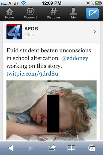 Hospitalized Enid Student Photo Shared on Facebook & Twitter
