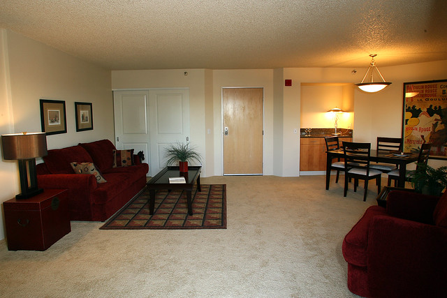 Southpark Square Apartments In Portland Apartment Model Living Room And Dining Room Flickr