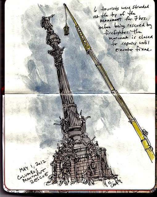 Barcelona - Columbus monument rescue