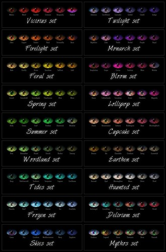 {Rue} Eyes / Grimalkin colorchart