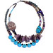 Andrea Rosenfeld: Two Strand Amethyst Turquoise Pearl Glass Jasper Necklace