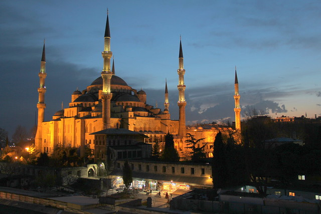 Blue Skies over the Blue Mosque
