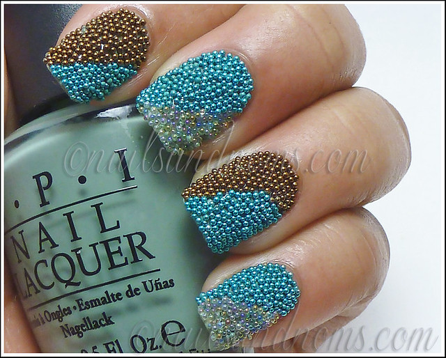 Striped Caviar Manicure