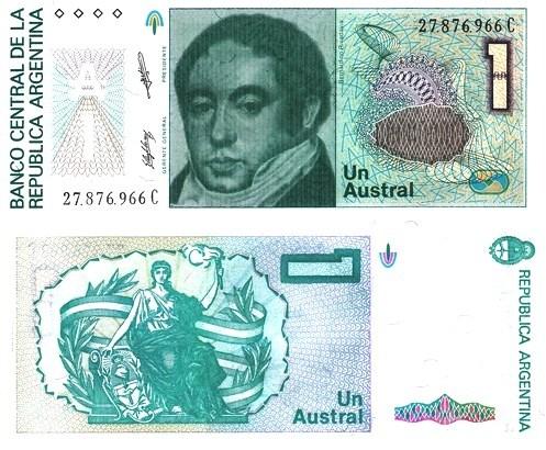 1 Austral Argentína 1985-89, Pick 323