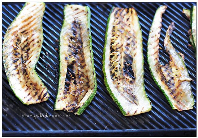 2 char grilled zucchini