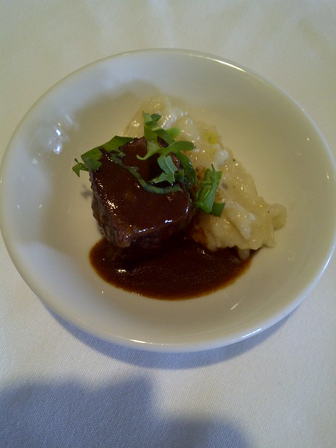 Beef Short Rib & Gorgonzola Risotto
