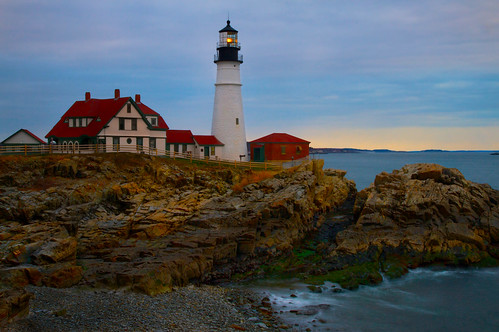 Evening at Portland Head Lighthouse - in explore, front page