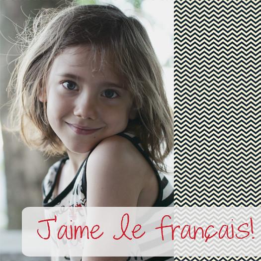 J'aime le francais