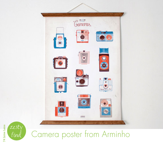 {zesty find} camera poster from Arminho