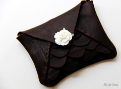 Scalloped Leather Clutch 2