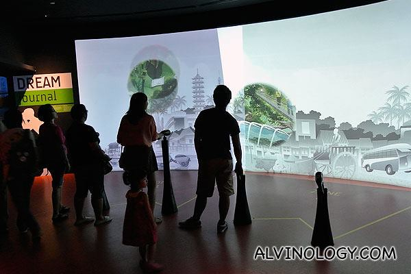 Interactive gallery in the Singapore Flyer