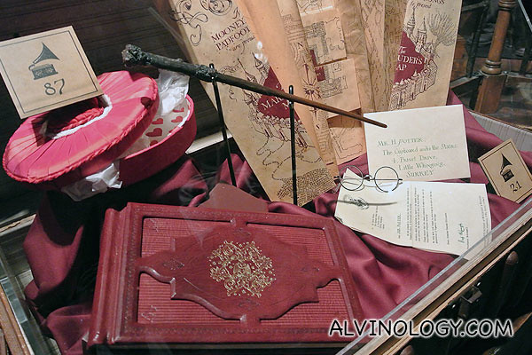Harry's wand, glasses and other items