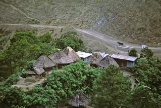Homes of some Banaue mountain farmers P.I.