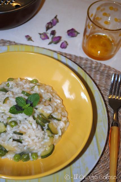 Risotto con zucchine e piselli alla menta (2)