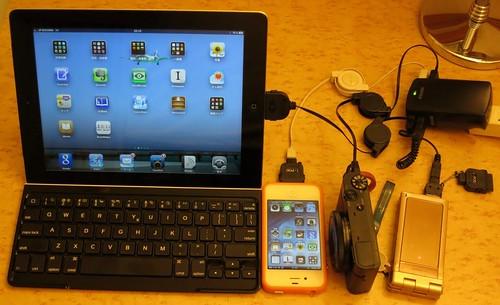 バッファロー 4A出力AC-USB充電器 BSMPA09BK 使用例 in 長崎