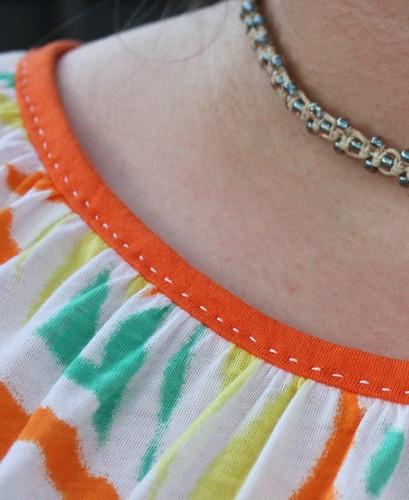 Simplicity 1805 neckline running stitch