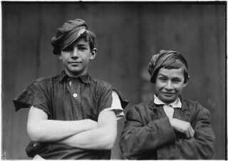 Two of the boys on night shift in the More, Jonas Glass Co. Bridgeton, N.J., November 1909