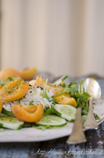 insalata con albicocche