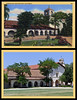 postcard & photo - Mission San Juan Bautista Then & Now