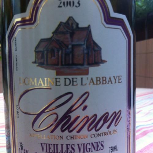 2003 Domaine De L'abbaye Chinon Vieilles Vignes @ Le Gourmand, Private Home Fine Dining