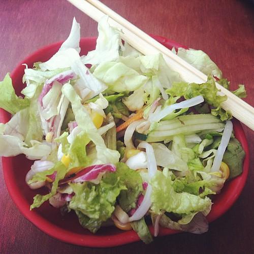 Do you chopstick salad?