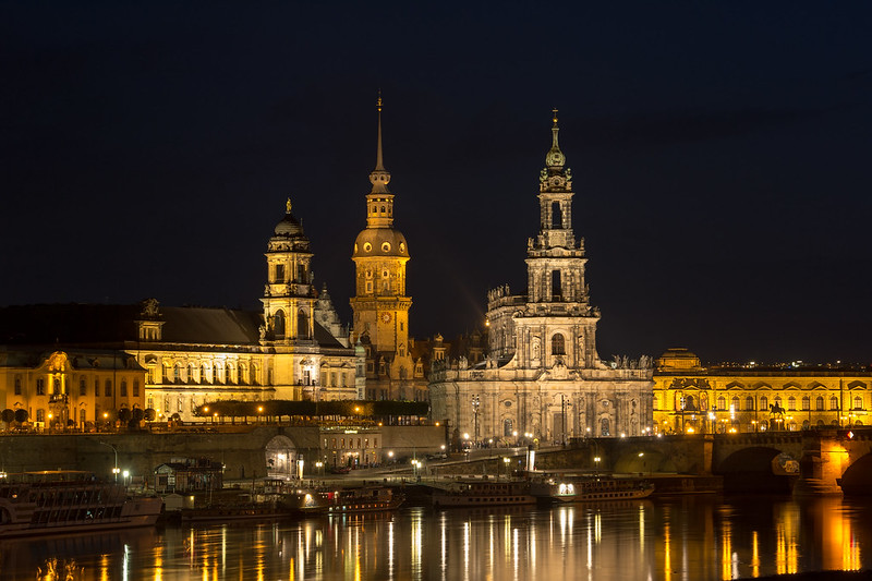 Dresden, Germany at night