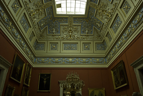 Malachite Room in The Hermitage, St. Petersburg, Russia.