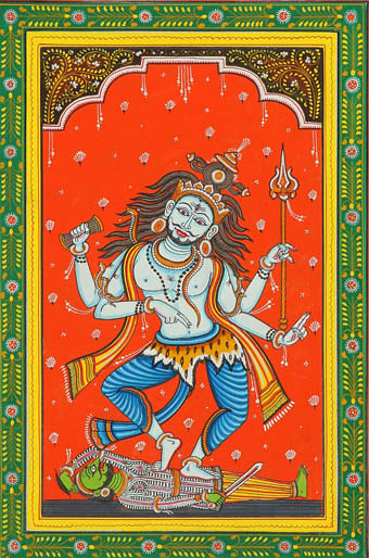 Lord Shiva Dances on Apasmar