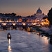 Sunset on Sant'Angelo Bridge