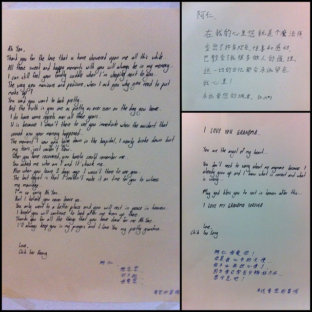 Photo:Letters to grandma by Cousin Foo Keong, Cousin Pui Kuan and Cousin Foo Seng By edmundyeo