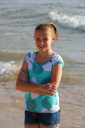 K at beach