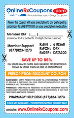 OnlineRxCoupons.com Prescription Drugs Coupon