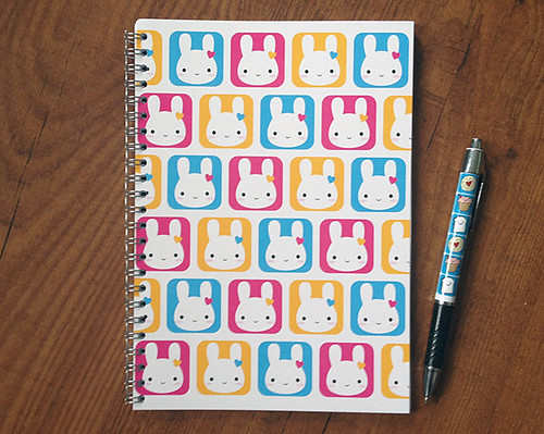 Bunny Squares Notebook