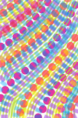 Bright Circles Lines Rectangles by randubnick