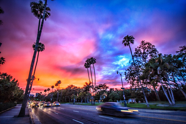 Santa Monica Boulevard Sunset