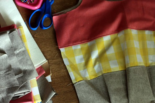 plaid color blocks in the works
