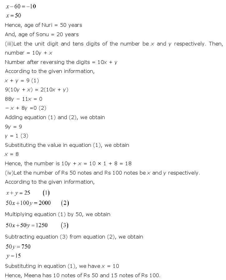 NCERT Solutions For Class 10 Maths Chapter 3 Pair of Linear Equations in Two Variables PDF Download 2018-19 FREEHOMEDELIVERY.NET
