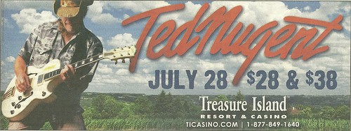 Ted Nugent @ Treasure Island Casino, Welch, MN