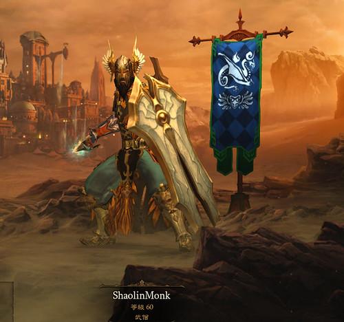 Diablo3-我的武僧人像照