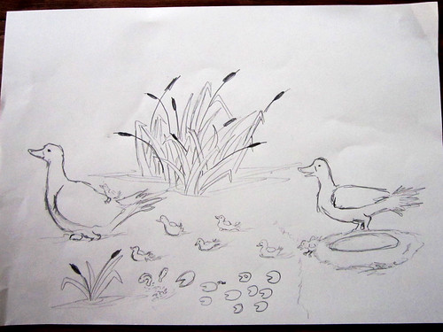 Duck drawing by YaYa