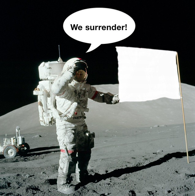 America to Moon: We surrender