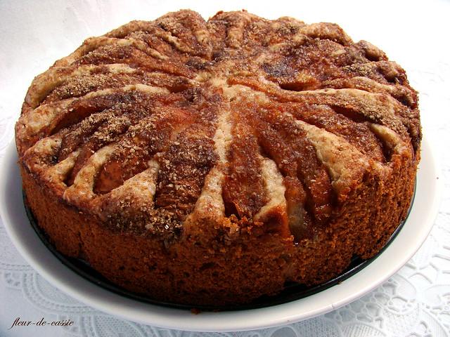 пирог грушевый с миндальной посыпкой 3