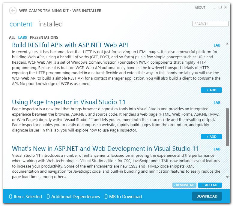 ASP.NET 4.5, ASP.NET MVC 4, ASP.NET Web