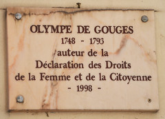 Photo of Olympe de Gouges marble plaque