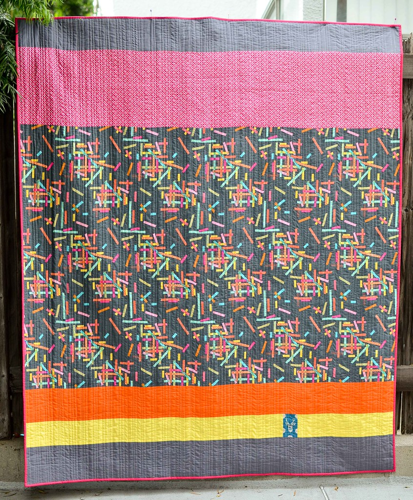 washi supernova quilt back
