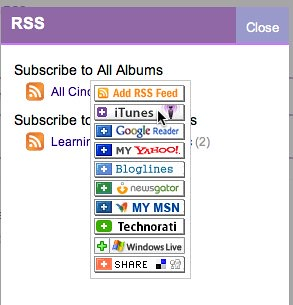 Add Cinch.fm RSS feed to iTunes